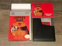 Jordan vs Bird One on One Nintendo Nes Complete Near Mint Condition Authentic