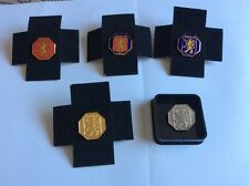 5 pin/ badges - 1991 London - with England lion