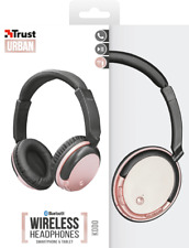TRUST 22453 URBAN KODO ROSE GOLD WIRELESS BLUETOOTH OR DIRECT CONNECT HEADPHONE