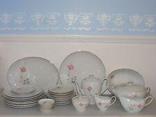 Camelot China American Rose 1655 Japan dish set teapot platter coasters plates +