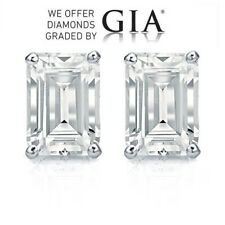 6.02 carat diamond pair Emerald cut Diamond GIA Graded 1) 3.01 ct, Co... Lot 282