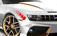 2 X Flame Fire Sport Art Drift Tuning Vinyl JDM WV Decal Art Sticker Racing Car