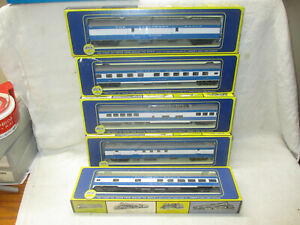 Vintage Group 5 AHM passenger cars, NEW in boxes. HO scale