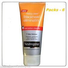 6 x Neutrogena Visibly Clear Blackhead Eliminating 7 day rescue Wash/Scrub/Mask