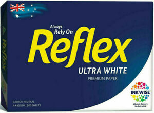 1 x Reflex A4 Ream Ultra White Copy Paper 80gsm - 1 Ream 500 Pages Sheets