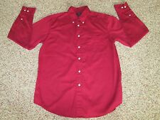 Mens DOCKERS Stain Defender No Wrinkle Red Long Sleeve Button Down Shirt Size M
