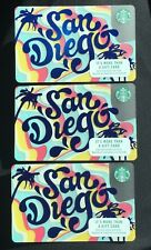 2017 Starbucks San Diego Card - Lot of 3