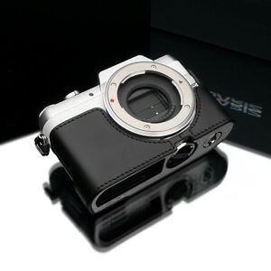 GARIZ Genuine Leather Half Case Panasonic Lumix GF7 Black XS-CHGF7BK