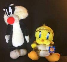 1990's Vintage Tweety & Sylvester Collectables Plush 12� & 18� Wb Looney Tunes