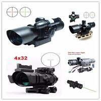 Tactical 2.5-10x40 Hunting Rifle Green Laser Sight Dot Scope