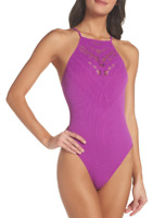 NEW Free People Intimately Seamless Solstice Bodysuit Purple Sz XS/S-M/L $54.50