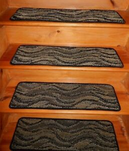 13 Step 9'' x 30''  1 Landing  30'' x 30'' Tufted Wool Woven carpet Stair Treads