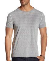 John Varvatos Star USA Men's Short Sleeve Crew T-Shirt Variegated Griffin Grey