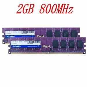 4GB 2x 2GB DDR2 800MHz PC2-6400U 240Pin CL6 DIMM Desktop Memory SDRAM ADATA BT