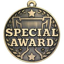 50mm SPECIAL AWARD Medal with FREE Engraving, Ribbon & UK p&p school club