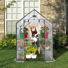 Plastic Mini Greenhouse Heavy Duty Walk In 3 Tier Small Cover Sheet Plants Steel