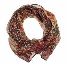 Écharpes et châles foulard rouge à motif Floral pour femme