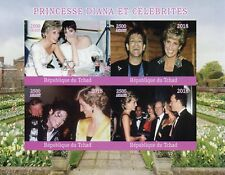 Chad 2018 MNH Princess Diana Michael Jackson Elton John 4v IMPF M/S Stamps