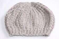 Thick Knitted Grey Beanie Beret Hat Cute Fashionista Women Autumn/Winter (s244)