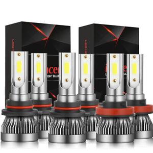9005 9006 H11 LED Combo Headlight Fog Light Kit High Low Beam Bulb White 6000K 6