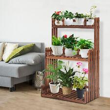 3 Tier Flower Plant Holder Display Rack Shelf Garden Wood Shelves In/Outdoor