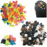 100 Hair Mini Claw Clips Butterfly Clamp Jaw Riser Bulldog Clamp Mix Color Small