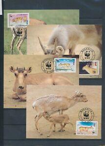XC59280 Mongolia 1995 animals fauna flora wildlife maxicards used