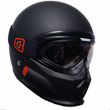 Viper RS07 Trooper Open Face Fibreglass With Mask Motorcycle Helmet Matt Black