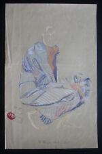MAX KLINGER . Kauernder Akt im Kimono. Farblichtdruck, in 8 Farben . 1906