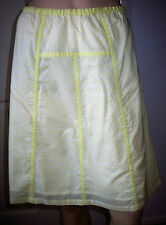 DUCK AND COVER Yellow White Floral Lined Knee Length  Skirt Size 10   BNWT
