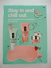 "Clinique ""Stay in and Chill Out"" spa essentials 4 pc kit-Clinique Moisture Surge"