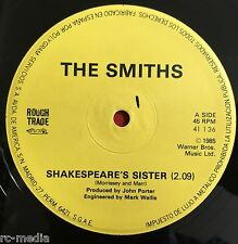 """THE SMITHS -Shakespears Sister- Spanish 12"""" with Misprint on label /Vinyl Record"""