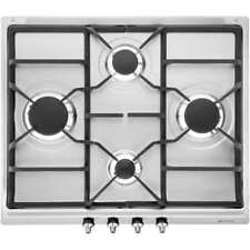 Smeg SE60SGH3 Built In 60cm 4 Burners Gas Hob Stainless Steel New from AO