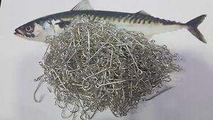 JOB LOT 500pcs Mackerel HOOKS SEA BOAT ROD charter long line COMMERCIAL FISHING