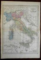 Italian States Kingdom of Piedmont Lombardy Papal States Tuscany 1859 map