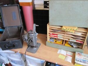 VINTAGE LOT 1940's Revere 8mm Model 85 Movie Projector w/ Hard Case - WORKS