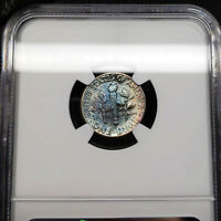 1958 MS66 Roosevelt Dime 10c, NGC Graded, Beautifully Toned