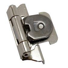 """PAIR AMEROCK Nickel 1/4"""" Overlay Single Demountable Cabinet Steel Hinge 8715-14"""