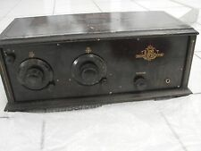 1920's Tube Radio USL Broadcast Receiver 4 of 5 301A & 201A Tubes Wood Cabinet
