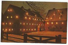 Ephrata Cloister Candlelight at Nightfall Saron Saai Vintage Postcard