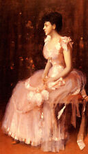 Art Oil painting William Merritt Chase - Portrait Of A Lady In Pink canvas