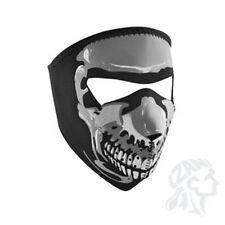 Chrome Grey Skull Neoprene Full Face Mask Biker Atv Ski Free Shipping Costume