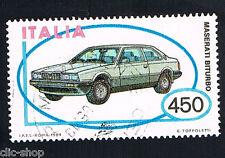ITALIA 1 FRANCOBOLLO MACCHINA MASERATI BITURBO AUTO 1984 usato