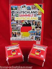 Panini Deutschland sammelt Deutschland 100 Tüten + Album 500 Sticker + Leeralbum