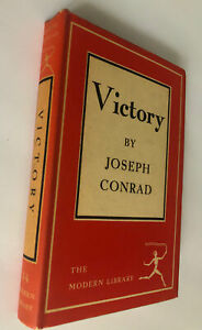 Victory By Joseph Conrad The Modern Library 34 Hardcover with Dust Jacket