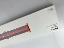 Original OEM Apple Watch Woven NYLON Band 38MM 40MM Silver buckle Orange stripe