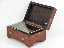 Kleine Walzenspieluhr Spieluhr Spieldose furniertes Gehäuse Antik um 1900