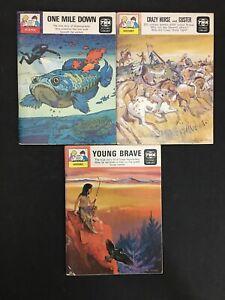 Three Vintage TWA Flying Library 1969 Children's Books Paperback