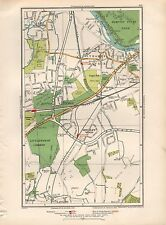 1936 LARGE SCALE MAP -  LONDON THAMES DITTON EAST MOLESLEY HINCHLEY WOOD CLAYGAT