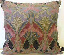 Liberty William Morris Ianthe Art Nouveau & Grey Velvet Fabric Cushion Cover